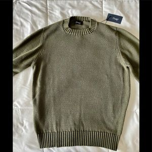 Drakes England Cotton Knit Jumper Sweater